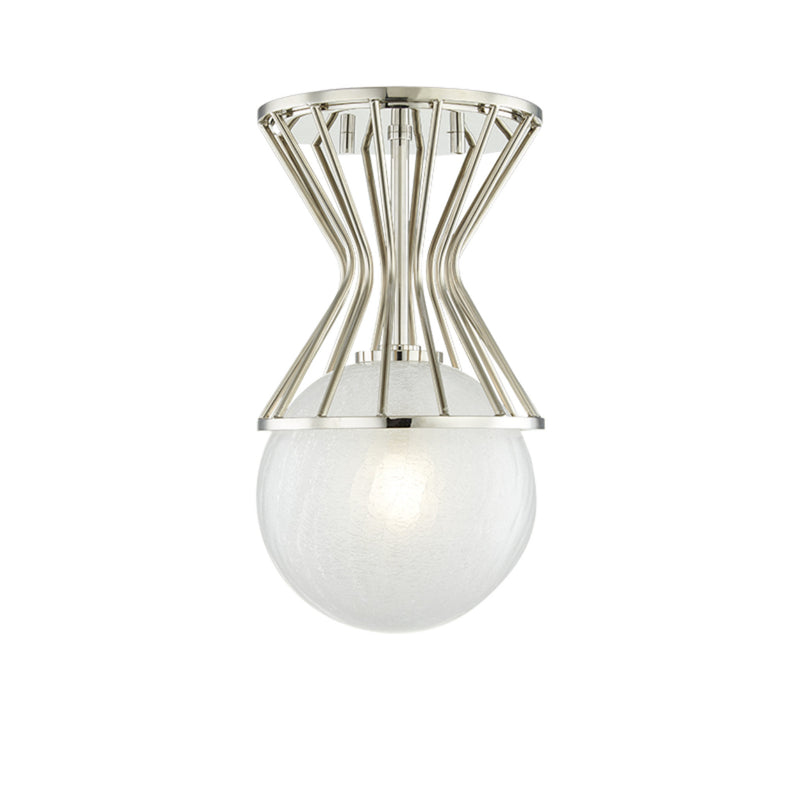 Mitzi by Hudson Valley Lighting H267601-PN Petra 1 Light Semi Flush in Polished Nickel