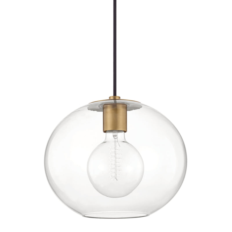 Mitzi by Hudson Valley Lighting H270701L-AGB Margot 1 Light Large Pendant in Aged Brass
