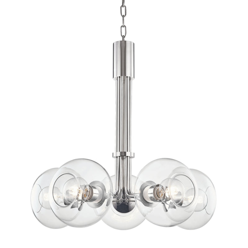Mitzi by Hudson Valley Lighting H270805-PN Margot 5 Light Chandelier in Polished Nickel