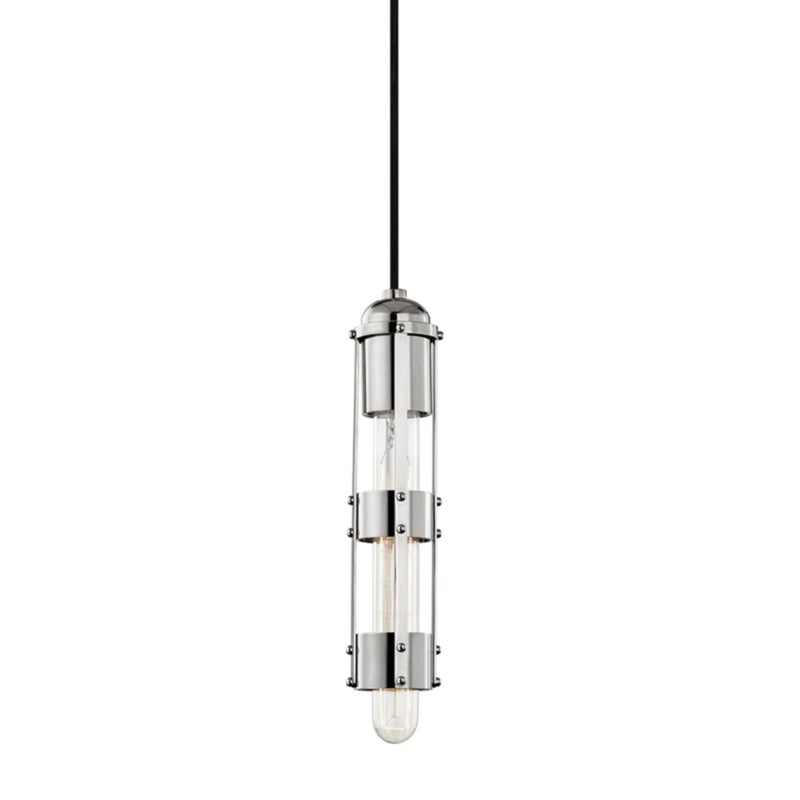 Mitzi by Hudson Valley Lighting H272701-PN Violet 1 Light Pendant in Polished Nickel