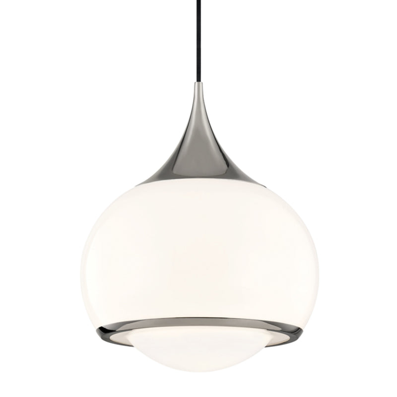 Mitzi by Hudson Valley Lighting H281701L-PN Reese 1 Light Large Pendant in Polished Nickel