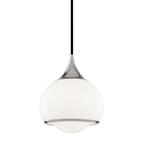 Mitzi by Hudson Valley Lighting H281701S-PN Reese 1 Light Small Pendant in Polished Nickel