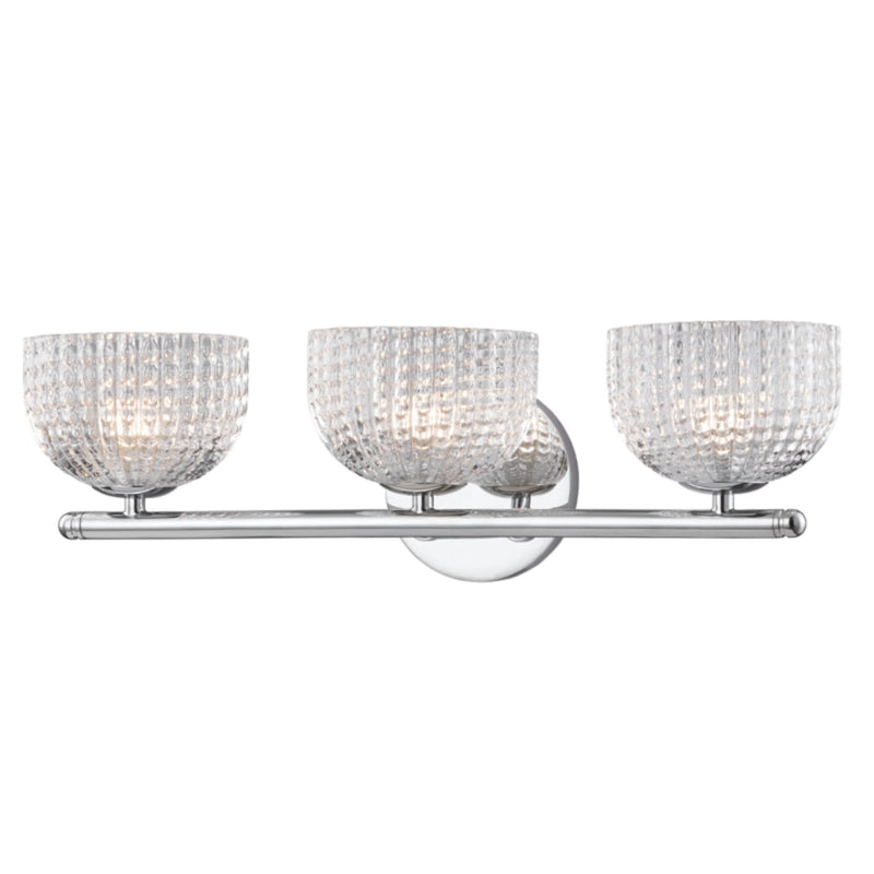 Mitzi by Hudson Valley Lighting H283303-PC Sabrina 3 Light Wall Sconce in Polished Chrome