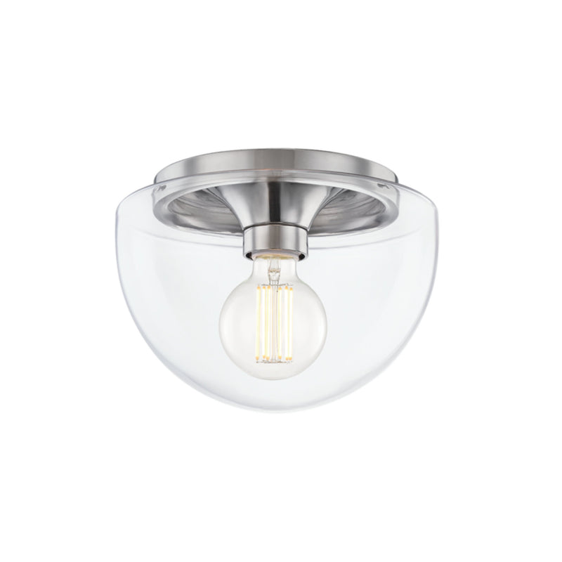 Mitzi by Hudson Valley Lighting H284501S-PN Grace 1 Light Small Flush Mount in Polished Nickel