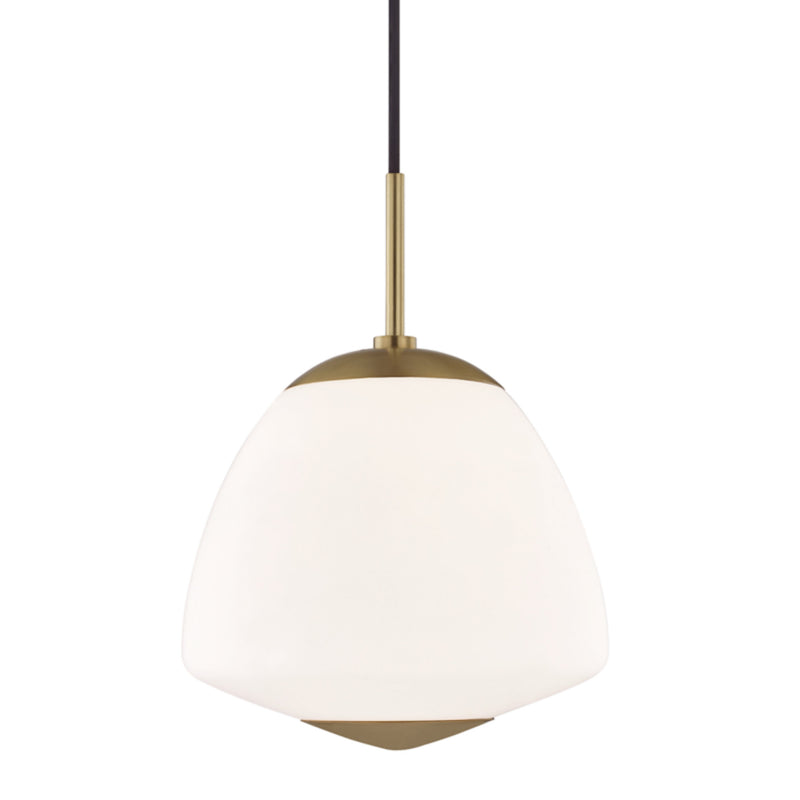 Mitzi by Hudson Valley Lighting H288701L-AGB Jane 1 Light Large Pendant in Aged Brass