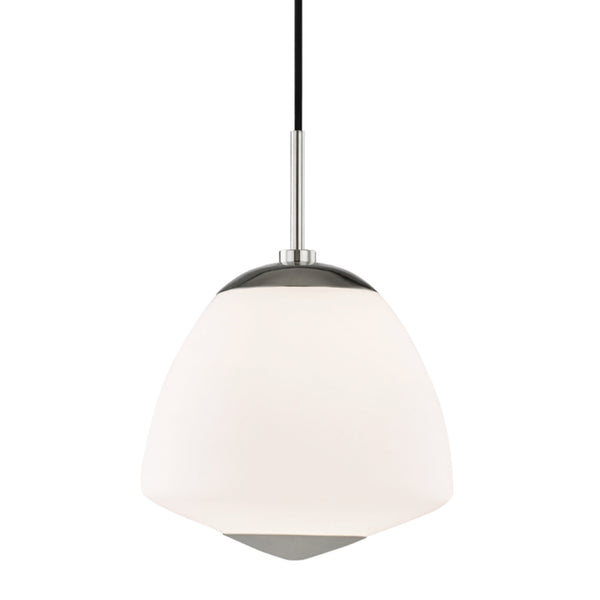 Mitzi by Hudson Valley Lighting H288701L-PN Jane 1 Light Large Pendant in Polished Nickel
