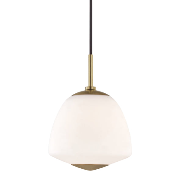 Mitzi by Hudson Valley Lighting H288701S-AGB Jane 1 Light Small Pendant in Aged Brass