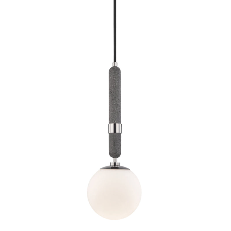 Mitzi by Hudson Valley Lighting H289701S-PN Brielle 1 Light Small Pendant in Polished Nickel
