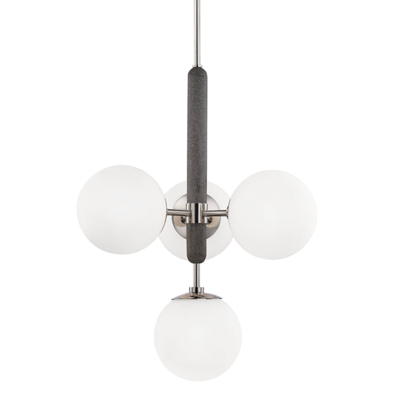 Mitzi by Hudson Valley Lighting H289804-PN Brielle 4 Light Pendant in Polished Nickel