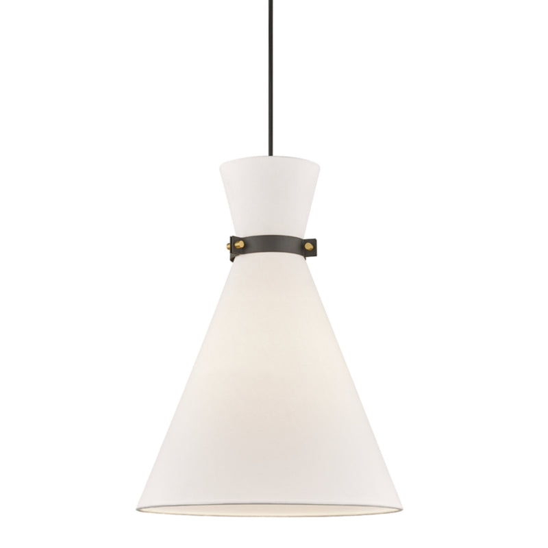 Mitzi by Hudson Valley Lighting H294701L-AGB/BK Julia 1 Light Large Pendant in Aged Brass/Black