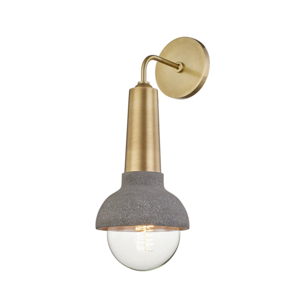 Mitzi by Hudson Valley Lighting H304101-AGB Macy 1 Light Wall Sconce in Aged Brass