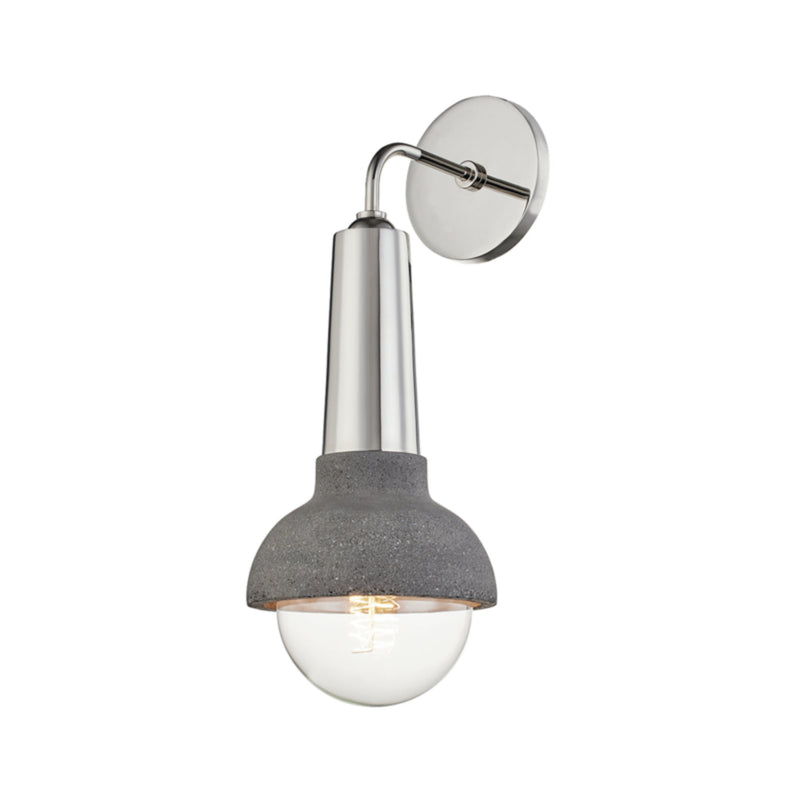 Mitzi by Hudson Valley Lighting H304101-PN Macy 1 Light Wall Sconce in Polished Nickel