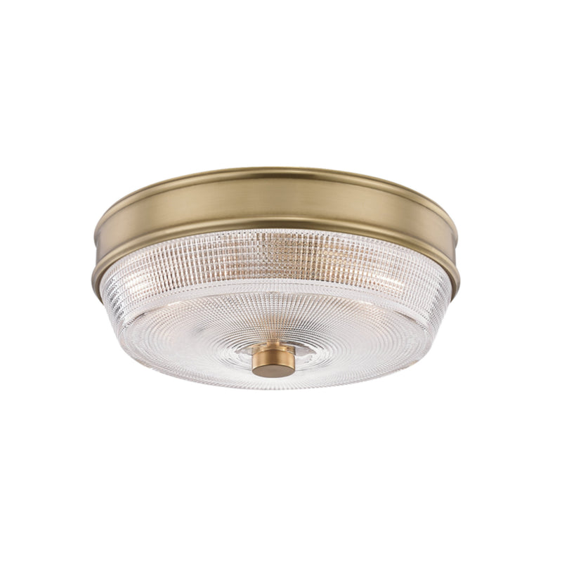 Mitzi by Hudson Valley Lighting H309501-AGB Lacey 2 Light Flush Mount in Aged Brass