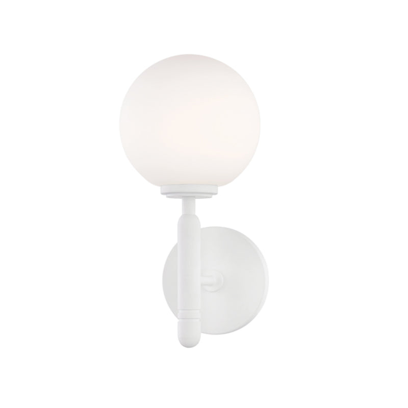 Mitzi by Hudson Valley Lighting H313101-WH Mina 1 Light Wall Sconce in White (Glossy White)