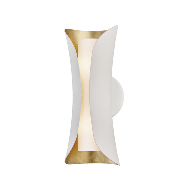 Mitzi by Hudson Valley Lighting H315102-GL/WH Josie 2 Light Wall Sconce in Gold Leaf/White