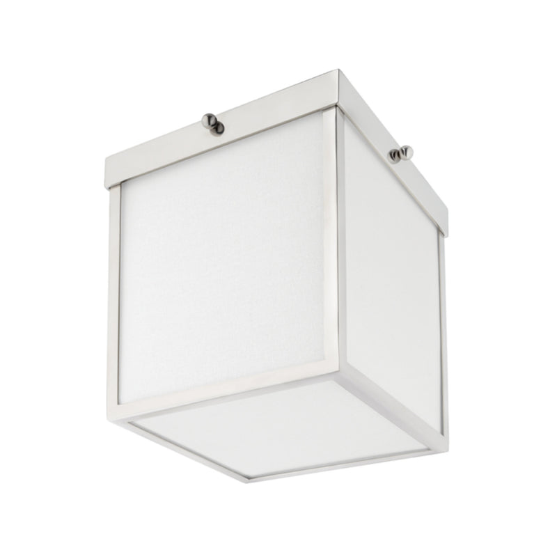 Mitzi by Hudson Valley Lighting H317501-PN Monica 1 Light Flush Mount in Polished Nickel
