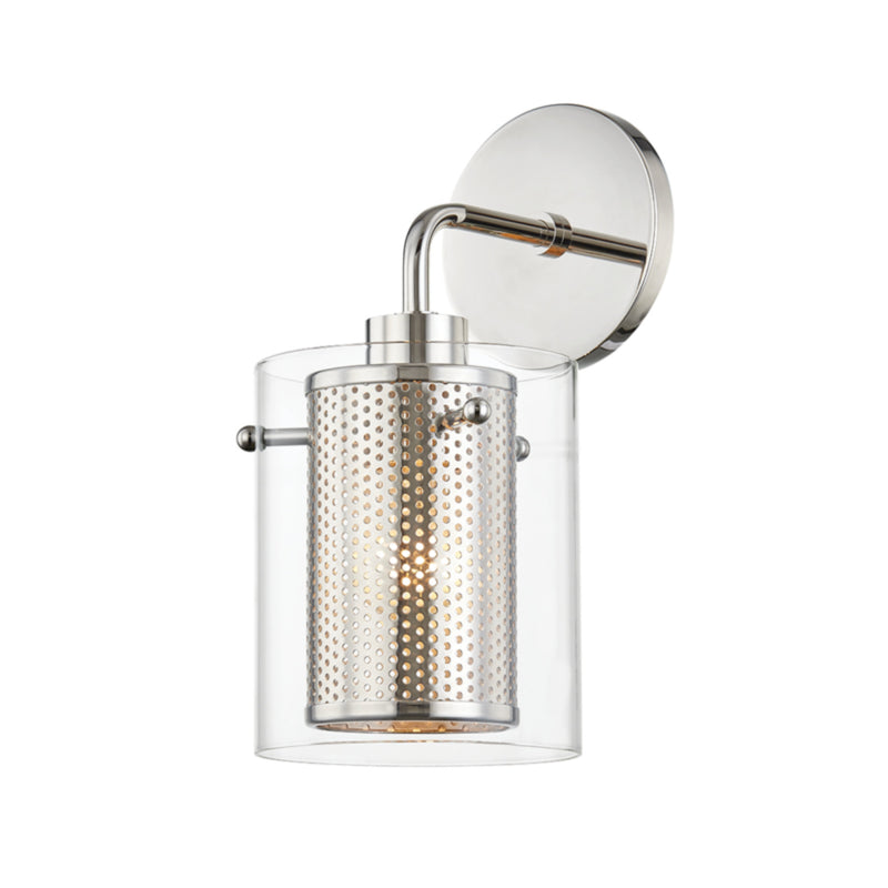 Mitzi by Hudson Valley Lighting H323101-PN Elanor 1 Light Wall Sconce in Polished Nickel