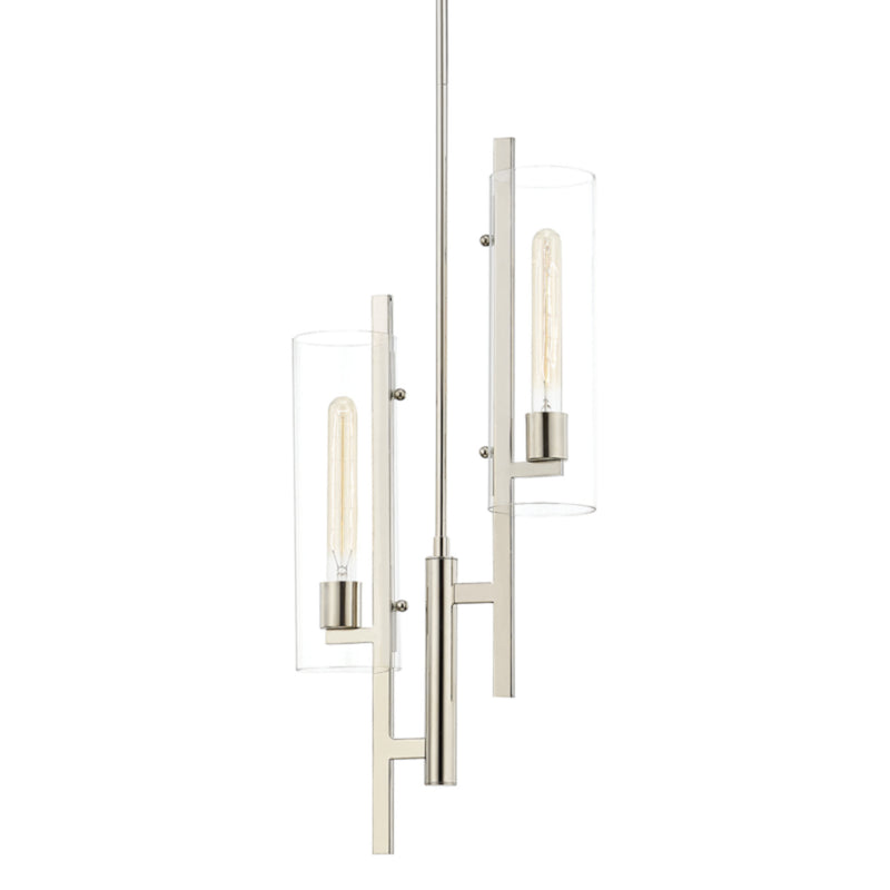 Mitzi by Hudson Valley Lighting H326702-PN Ariel 2 Light Pendant in Polished Nickel