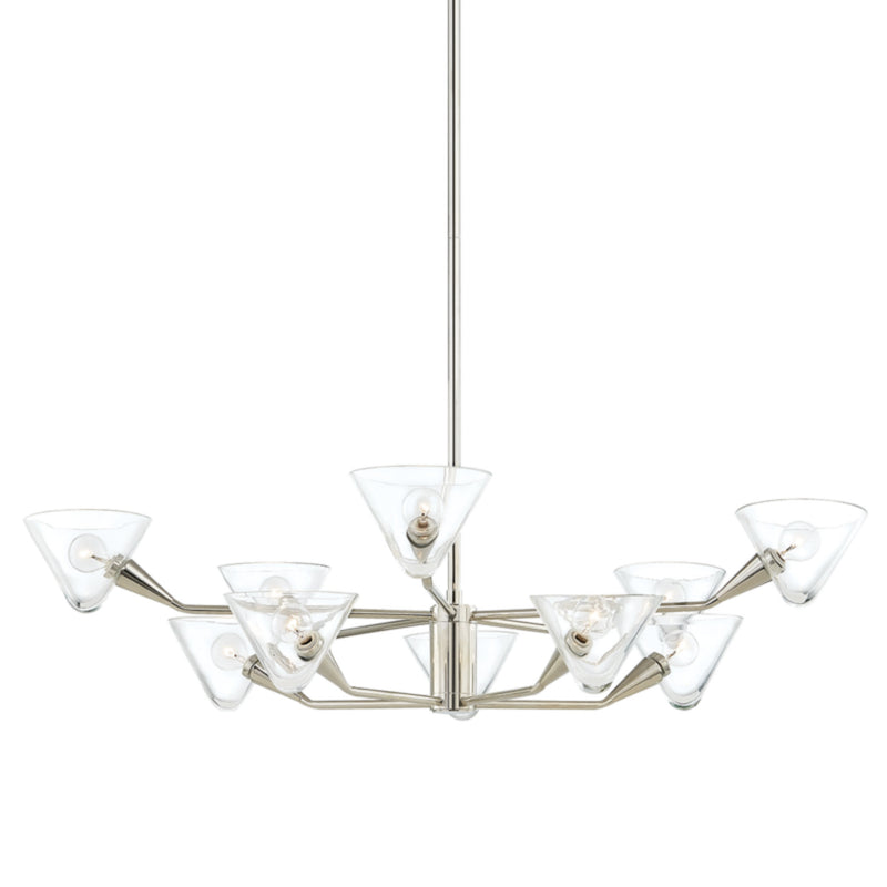 Mitzi by Hudson Valley Lighting H327810-PN Isabella 10 Light Chandelier in Polished Nickel