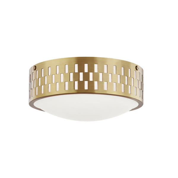 Mitzi by Hudson Valley Lighting H329502S-AGB Phoebe 2 Light Flush Mount in Aged Brass