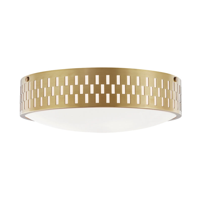 Mitzi by Hudson Valley Lighting H329503L-AGB Phoebe 3 Light Flush Mount in Aged Brass