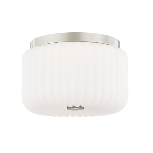 Mitzi by Hudson Valley Lighting H340502-PN Lydia 2 Light Flush Mount in Polished Nickel