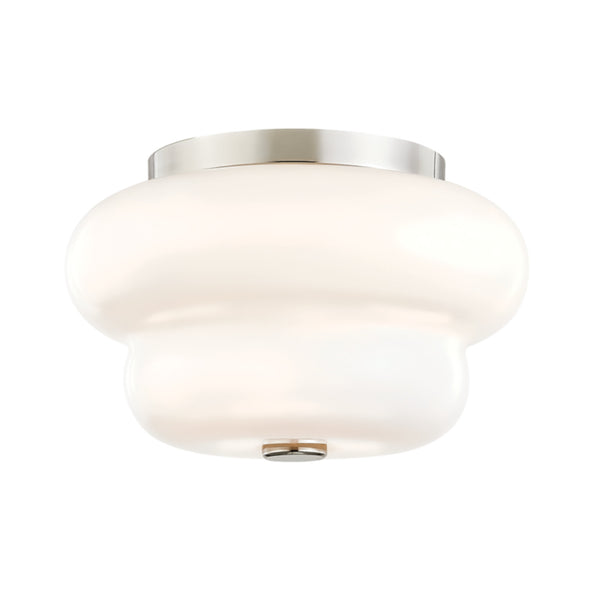 Mitzi by Hudson Valley Lighting H350502-PN Hazel 2 Light Flush Mount in Polished Nickel