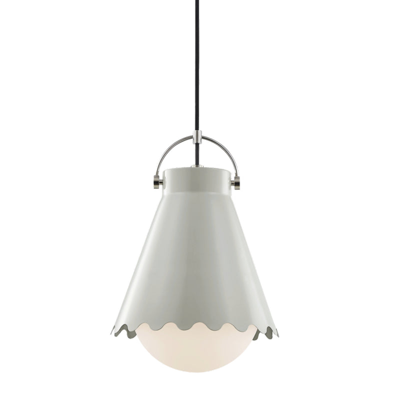 Mitzi by Hudson Valley Lighting H351701L-PN/GRY Lauryn 1 Light Large Pendant in Aged Brass/Blush Combo