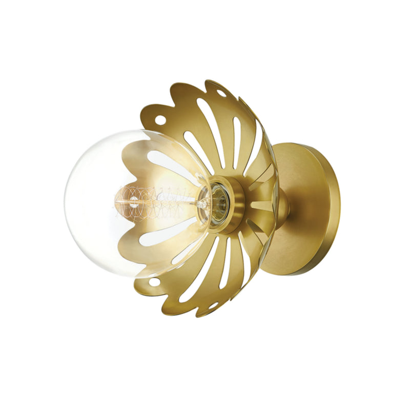 Mitzi by Hudson Valley Lighting H353101-AGB Alyssa 1 Light Wall Sconce in Aged Brass