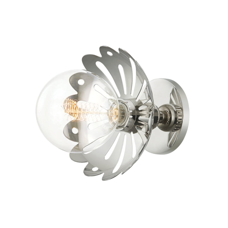 Mitzi by Hudson Valley Lighting H353101-PN Alyssa 1 Light Wall Sconce in Polished Nickel