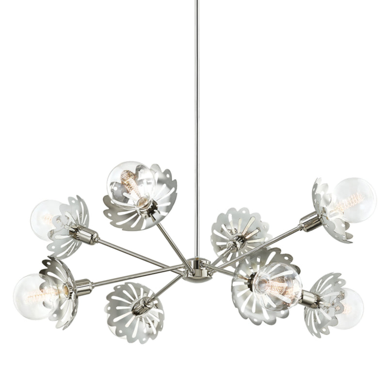 Mitzi by Hudson Valley Lighting H353808-PN Alyssa 8 Light Chandelier in Polished Nickel