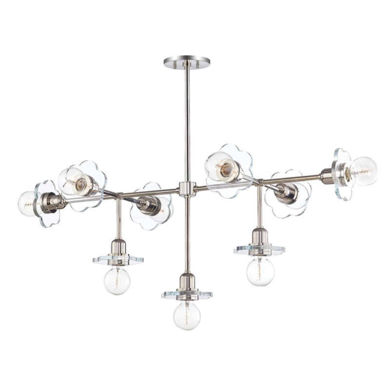 Mitzi by Hudson Valley Lighting H357809-PN Alexa 9 Light Chandelier in Polished Nickel