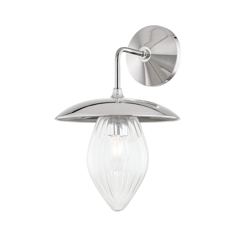 Mitzi by Hudson Valley Lighting H365101-PN Lilly 1 Light Wall Sconce in Polished Nickel