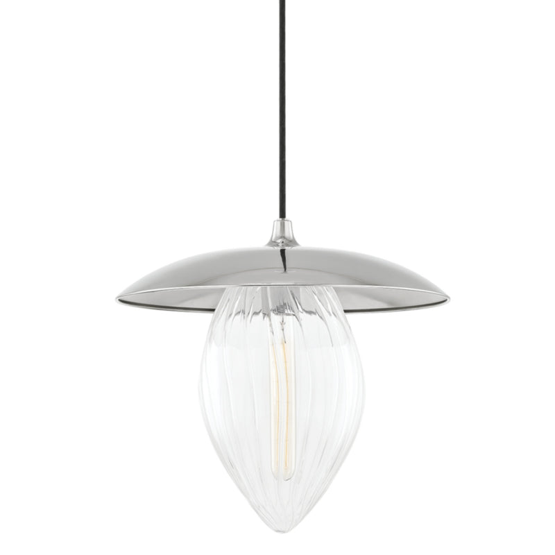 Mitzi by Hudson Valley Lighting H365701L-PN Lilly 1 Light Large Pendant in Polished Nickel