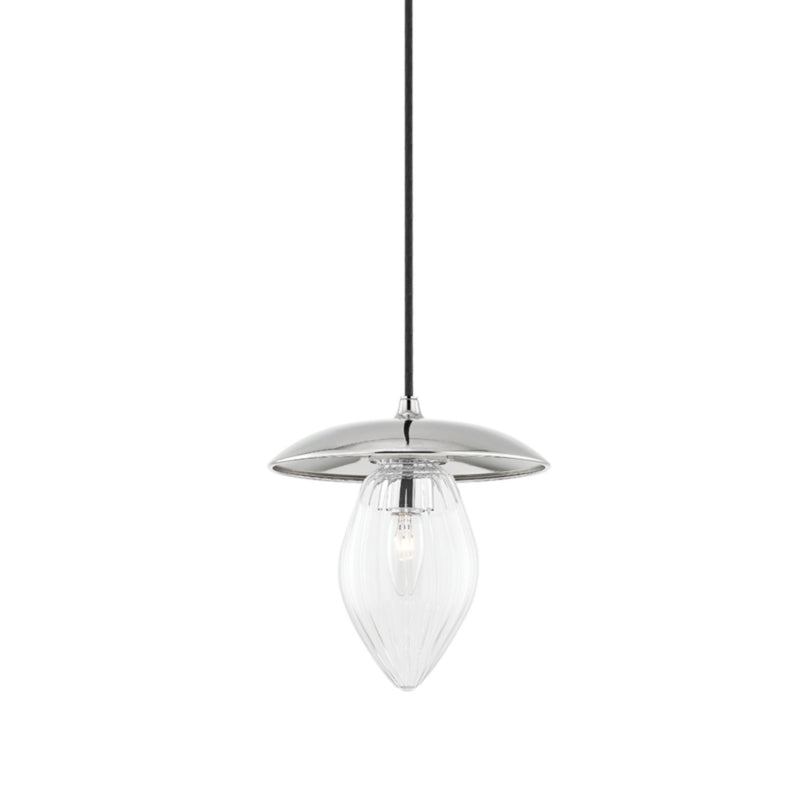 Mitzi by Hudson Valley Lighting H365701S-PN Lilly 1 Light Small Pendant in Polished Nickel