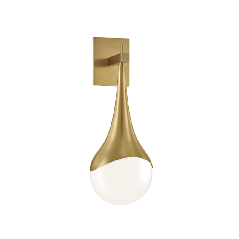 Mitzi by Hudson Valley Lighting H375101-AGB Ariana 1 Light Wall Sconce in Aged Brass