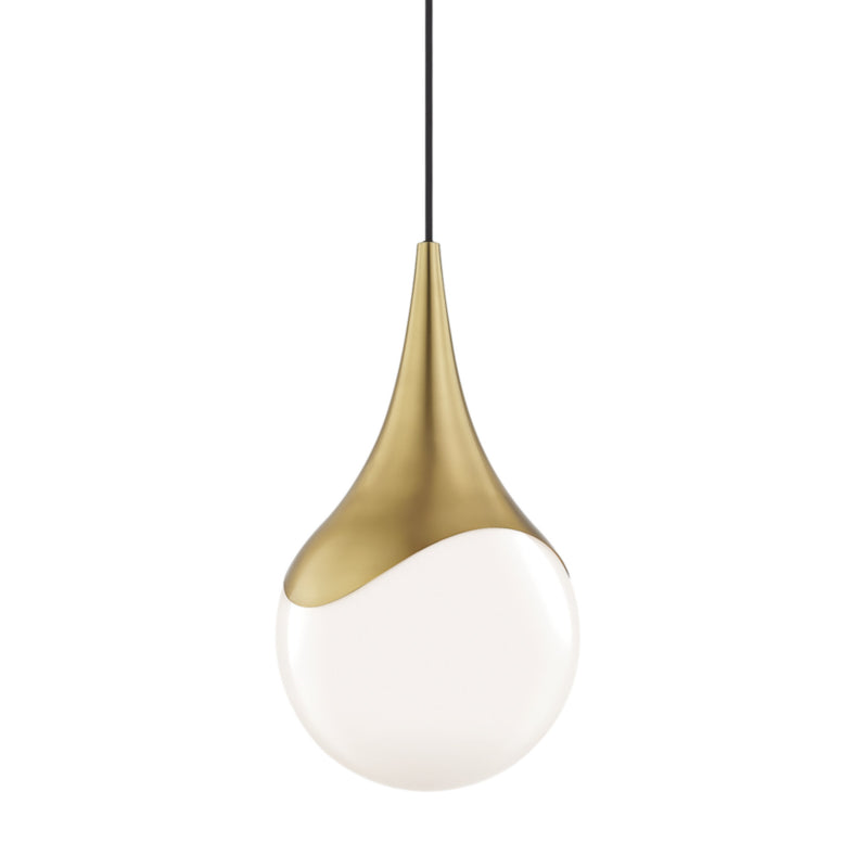 Mitzi by Hudson Valley Lighting H375701L-AGB Ariana 1 Light Large Pendant in Aged Brass