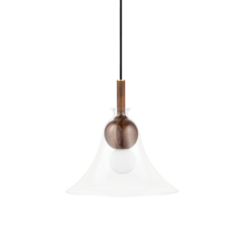 Mitzi by Hudson Valley Lighting H380701C-AGB Dani 1 Light Pendant in Aged Brass