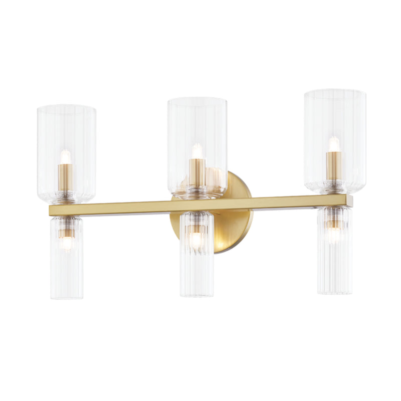 Mitzi by Hudson Valley Lighting H384303-AGB Tabitha 6 Light Bath Bracket in Aged Brass