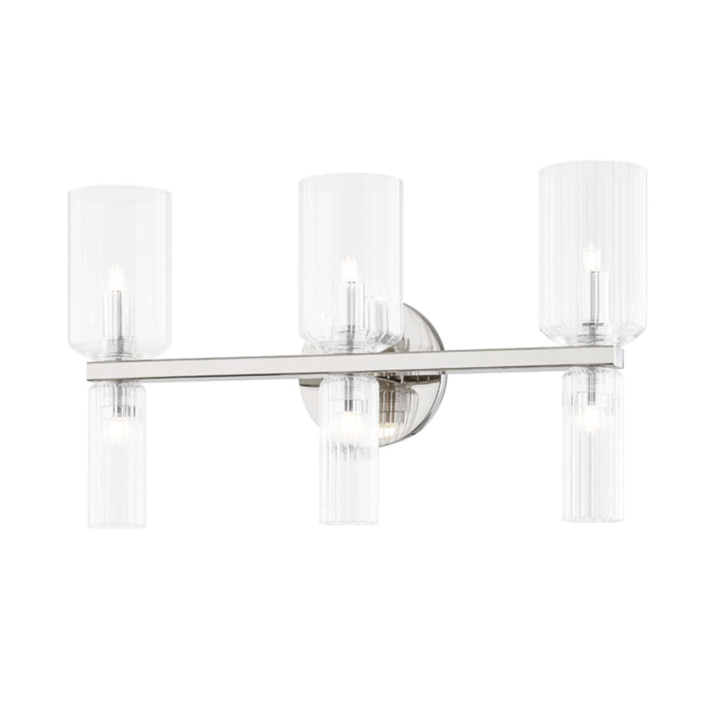 Mitzi by Hudson Valley Lighting H384303-PN Tabitha 6 Light Bath Bracket in Polished Nickel