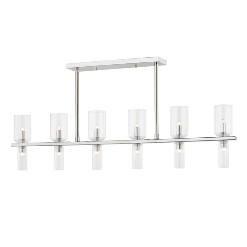 Mitzi by Hudson Valley Lighting H384912-PN Tabitha 12 Light Island in Polished Nickel