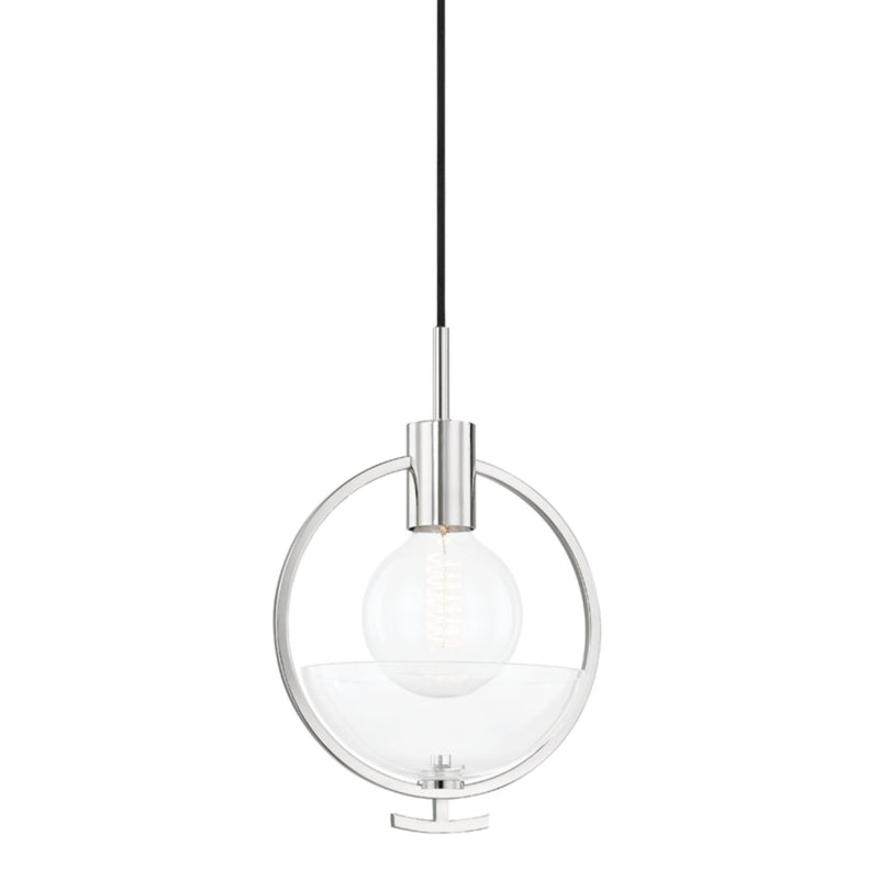 Mitzi by Hudson Valley Lighting H387701-PN Ringo 1 Light Pendant in Polished Nickel