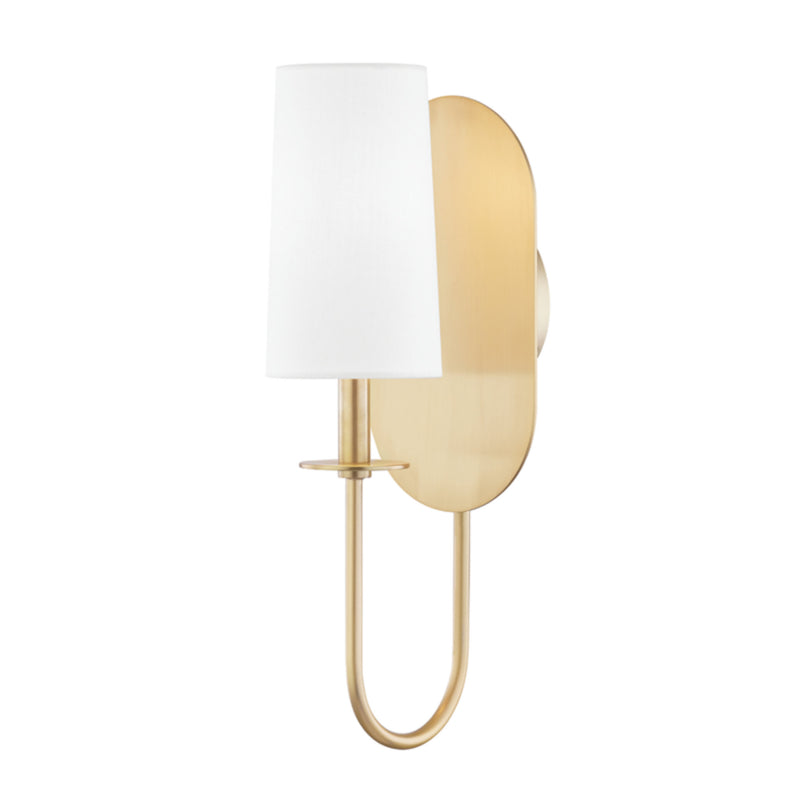 Mitzi by Hudson Valley Lighting H395101-AGB Lara 1 Light Wall Sconce in Aged Brass