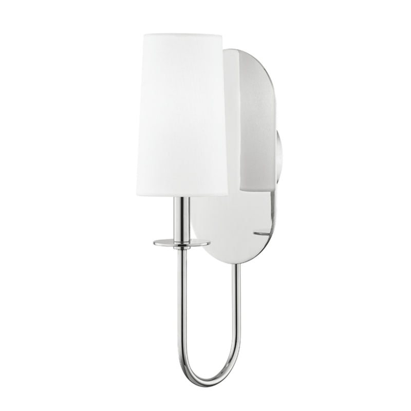 Mitzi by Hudson Valley Lighting H395101-PN Lara 1 Light Wall Sconce in Polished Nickel
