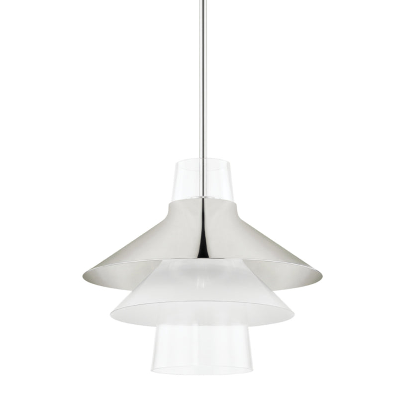 Mitzi by Hudson Valley Lighting H404701L-PN Jessy 1 Light Large Pendant in Polished Nickel
