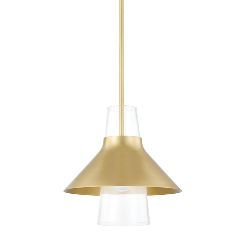 Mitzi by Hudson Valley Lighting H404701S-AGB Jessy 1 Light Small Pendant in Aged Brass