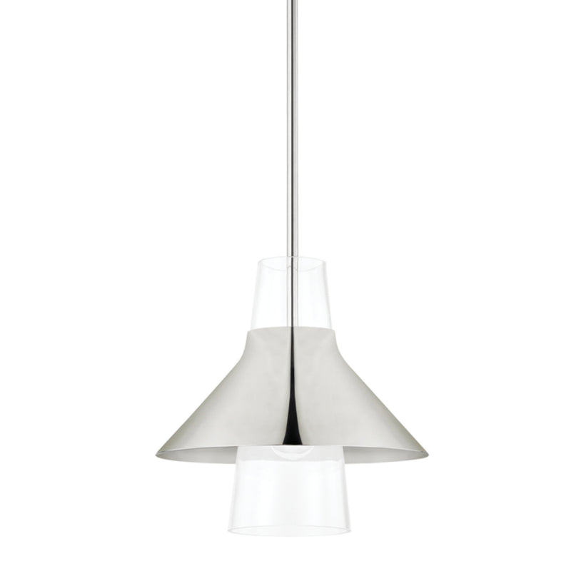 Mitzi by Hudson Valley Lighting H404701S-PN Jessy 1 Light Small Pendant in Polished Nickel