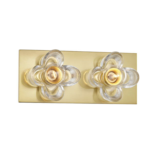 Mitzi by Hudson Valley Lighting H410302-AGB Shea 2 Light Bath Bracket in Aged Brass