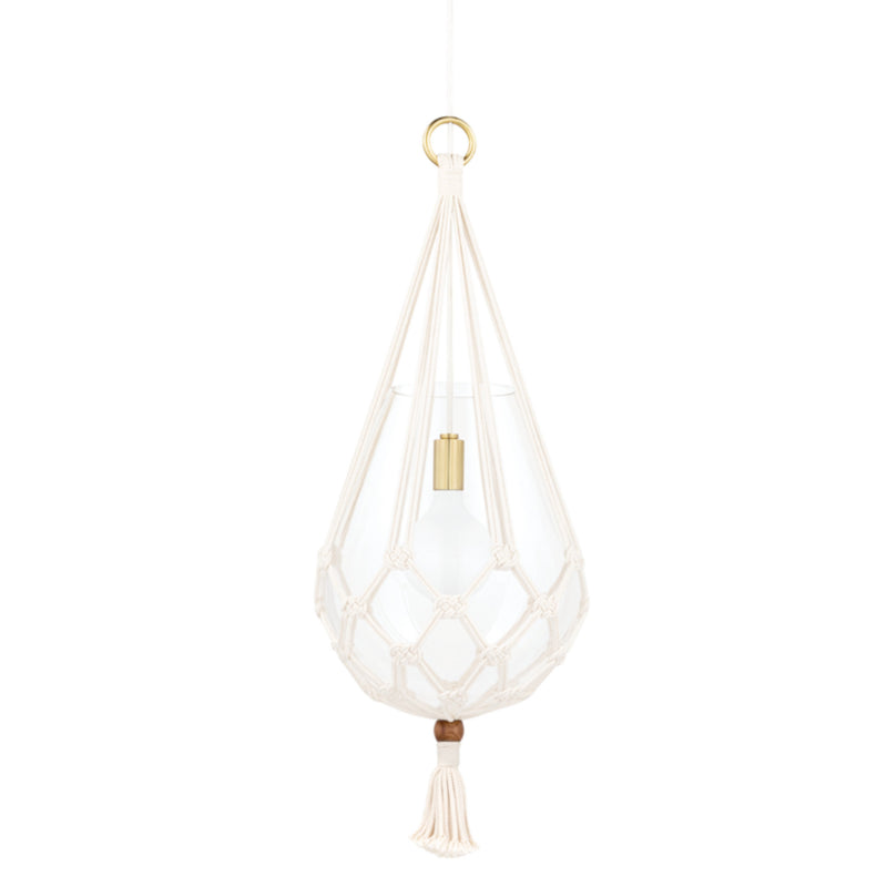 Mitzi by Hudson Valley Lighting H411701L-AGB Tessa 1 Light Large Pendant in Aged Brass