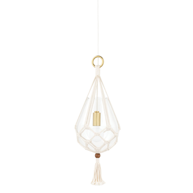 Mitzi by Hudson Valley Lighting H411701S-AGB Tessa 1 Light Small Pendant in Aged Brass